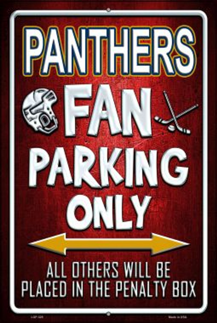 Panthers Novelty Metal Large Parking Sign LGP-325