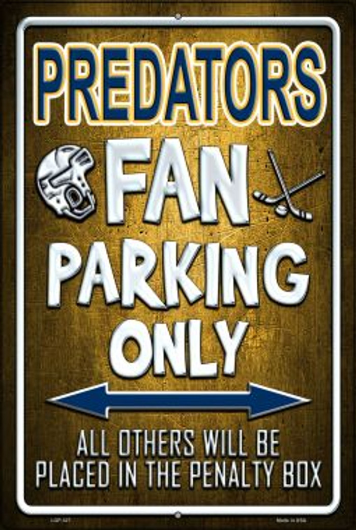 Predators Novelty Metal Large Parking Sign LGP-327