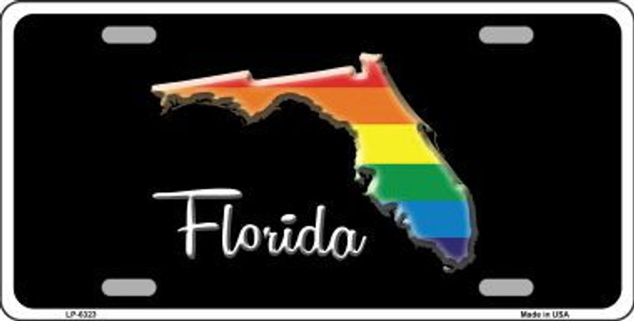 Florida Rainbow Metal Novelty License Plate LP-6323