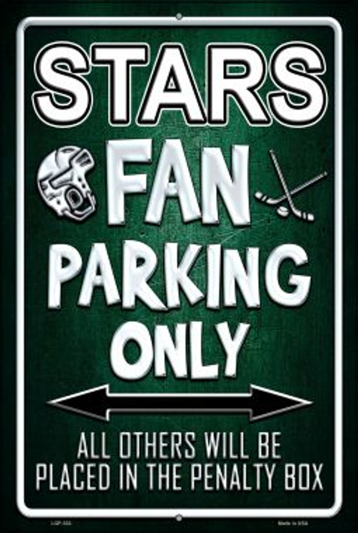 Stars Novelty Metal Large Parking Sign LGP-332