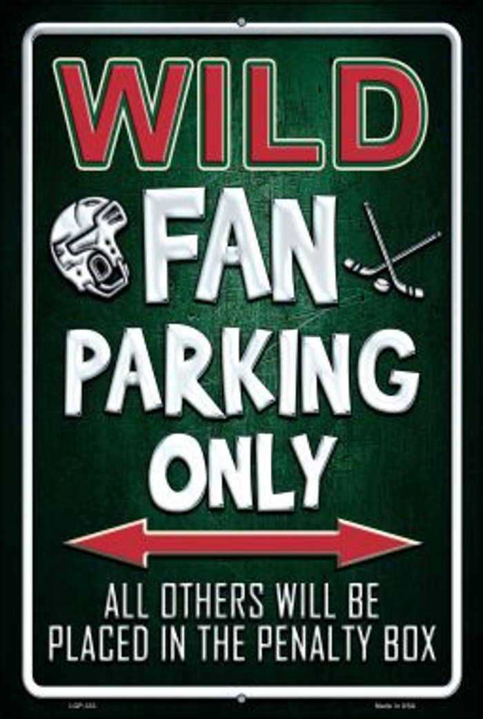 Wild Novelty Metal Large Parking Sign LGP-333