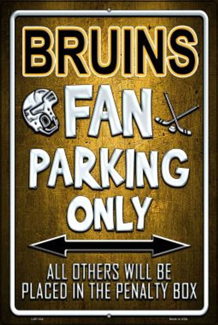 Bruins Novelty Metal Large Parking Sign LGP-334