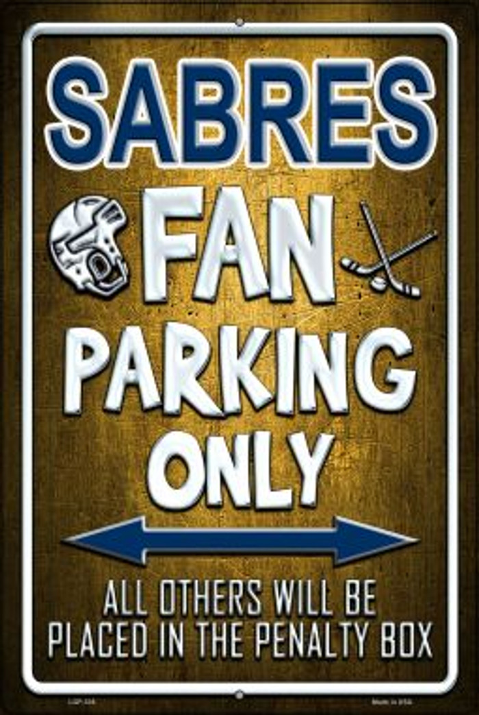Sabres Novelty Metal Large Parking Sign LGP-335