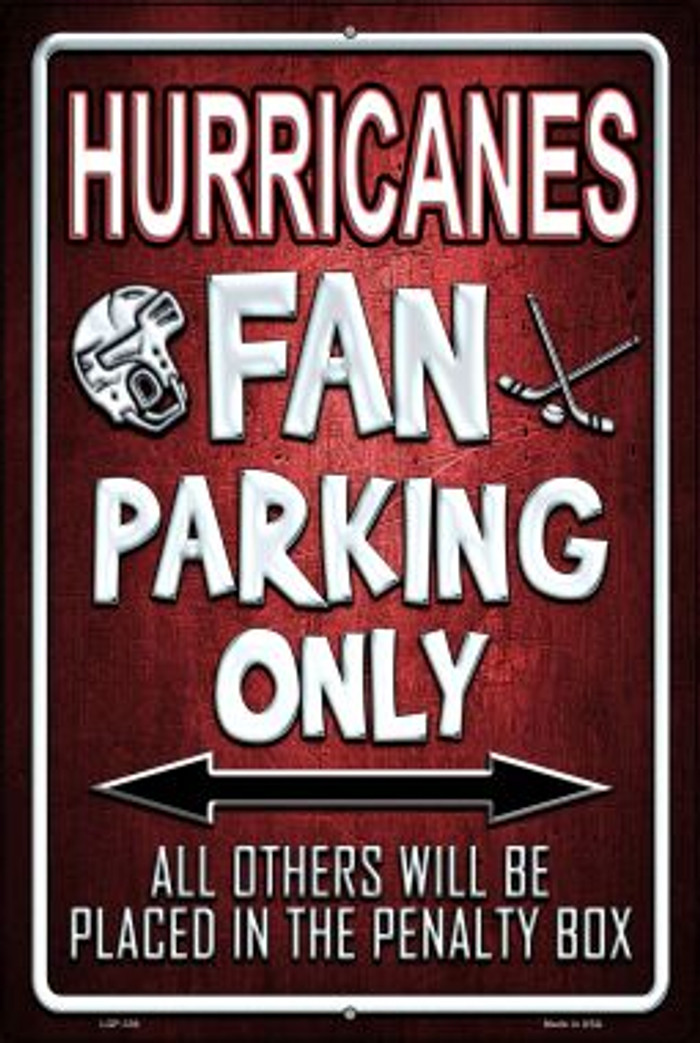 Hurricanes Novelty Metal Large Parking Sign LGP-336