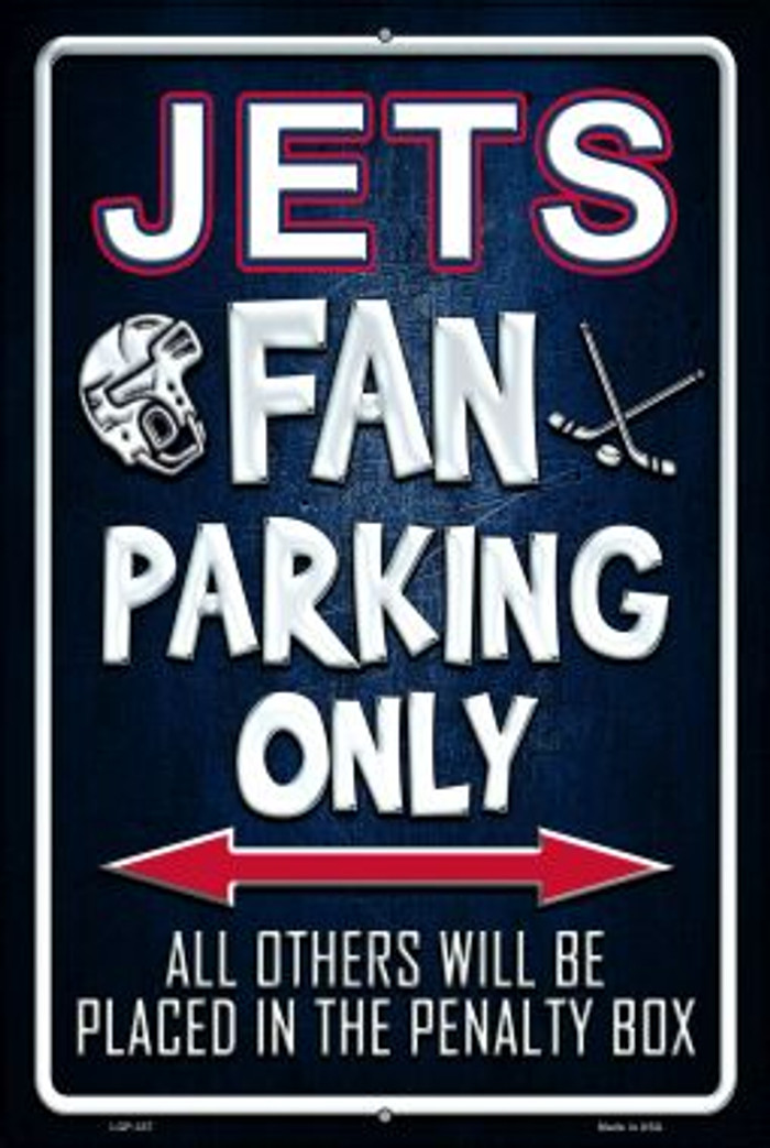 Jets Novelty Metal Large Parking Sign LGP-337