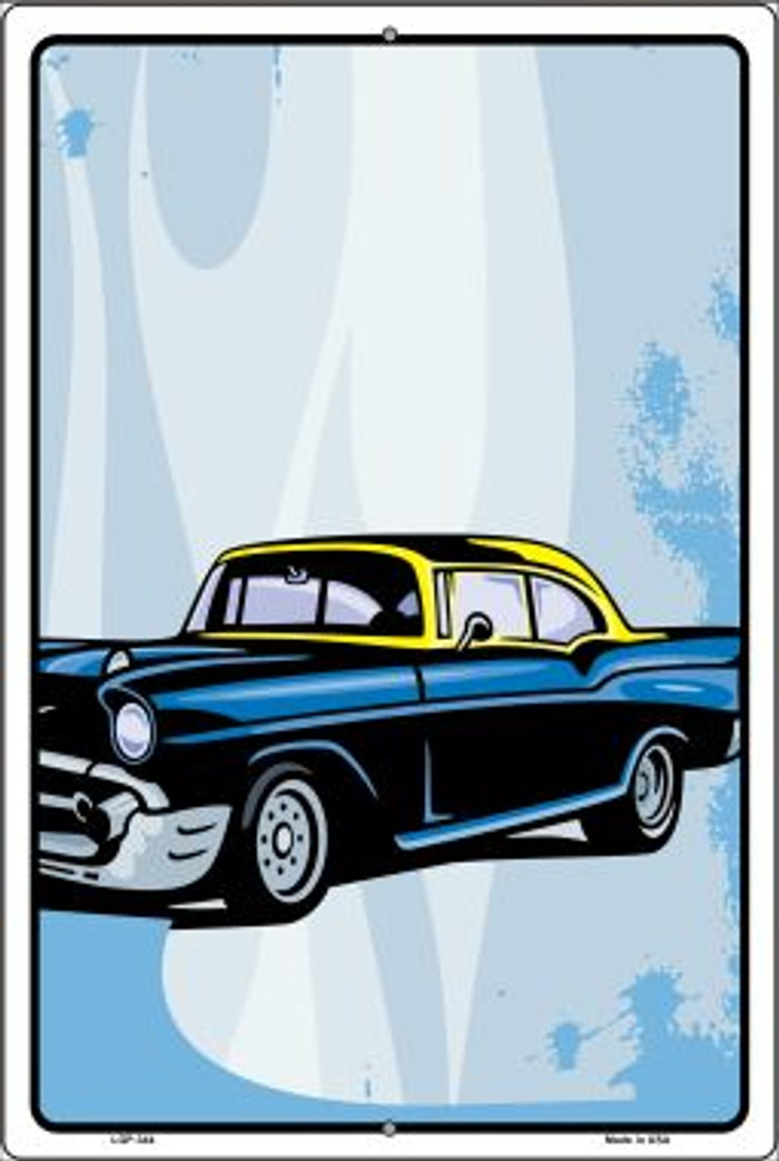 Classic Car Chevy Novelty Metal Large Parking Sign LGP-344