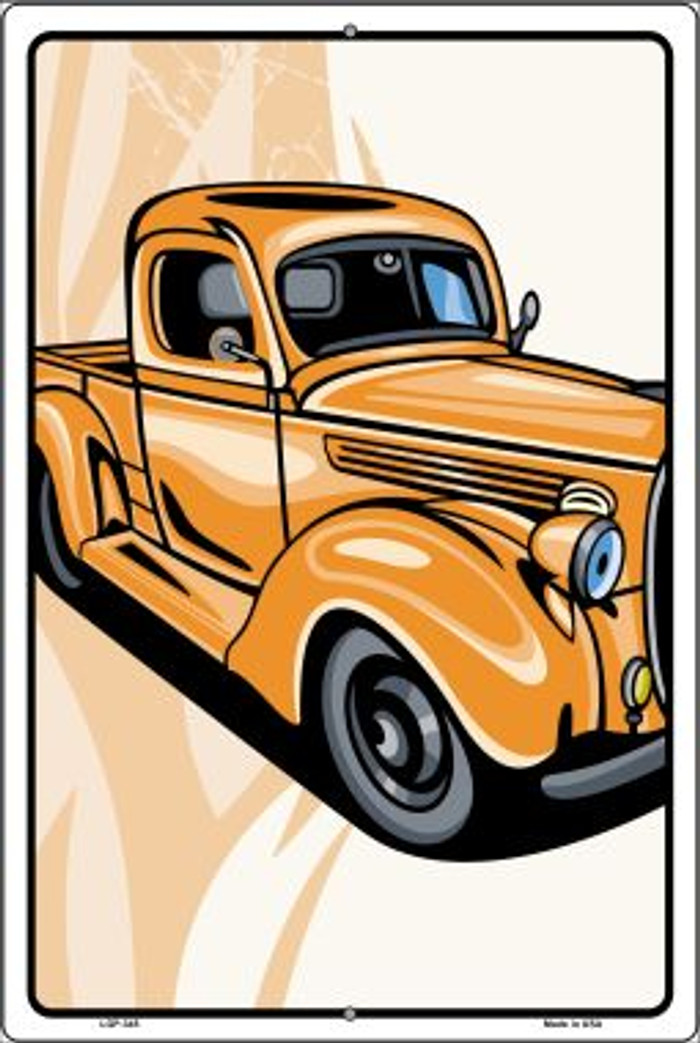 Classic Truck Novelty Metal Large Parking Sign LGP-345