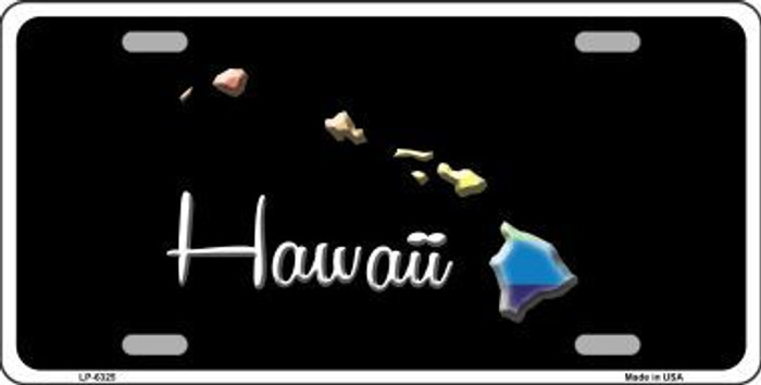 Hawaii Rainbow Metal Novelty License Plate LP-6325