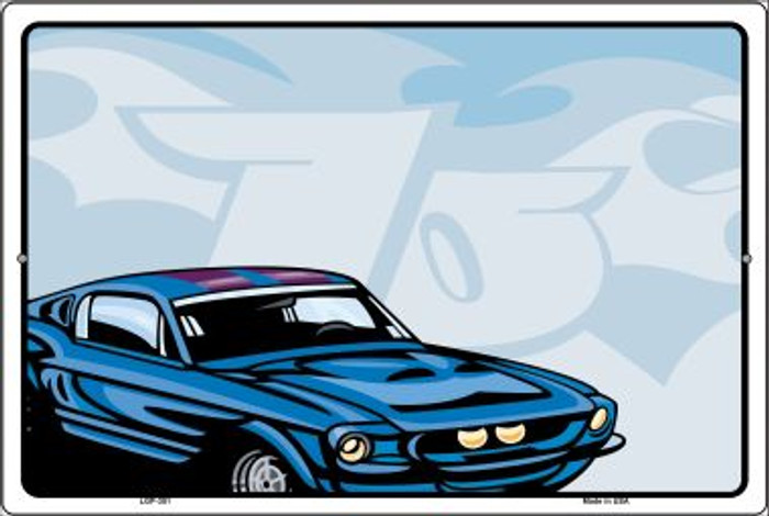 Classic Car Mustang Novelty Metal Large Parking Sign LGP-351