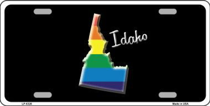Idaho Rainbow Metal Novelty License Plate LP-6326