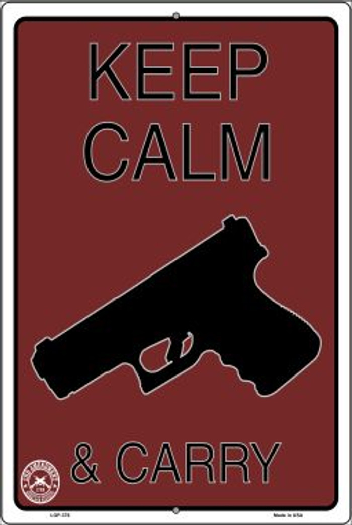 Keep Calm & Carry Novelty Metal Large Parking Sign LGP-376