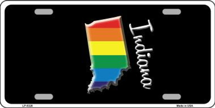 Indiana Rainbow Metal Novelty License Plate LP-6328