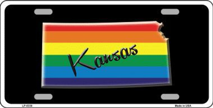 Kansas Rainbow Metal Novelty License Plate LP-6330