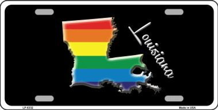 Louisiana Rainbow Metal Novelty License Plate LP-6332