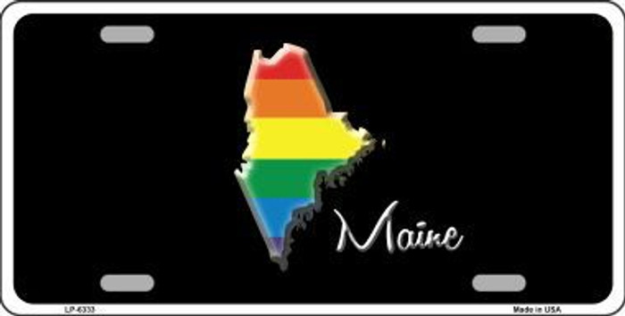 Maine Rainbow Metal Novelty License Plate LP-6333