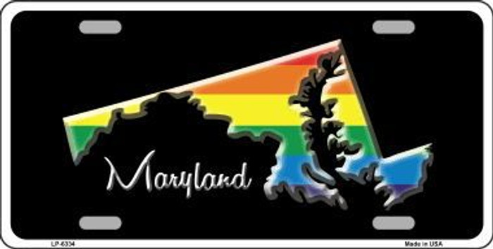 Maryland Rainbow Metal Novelty License Plate LP-6334