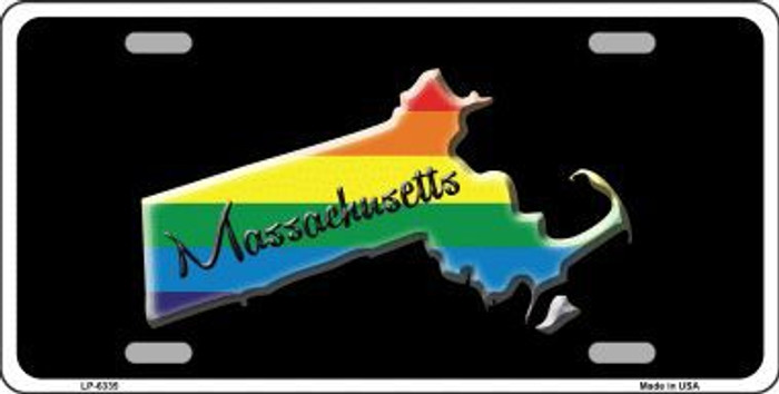 Massachusetts Rainbow Metal Novelty License Plate LP-6335