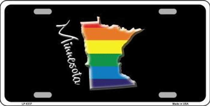 Minnesota Rainbow Metal Novelty License Plate LP-6337