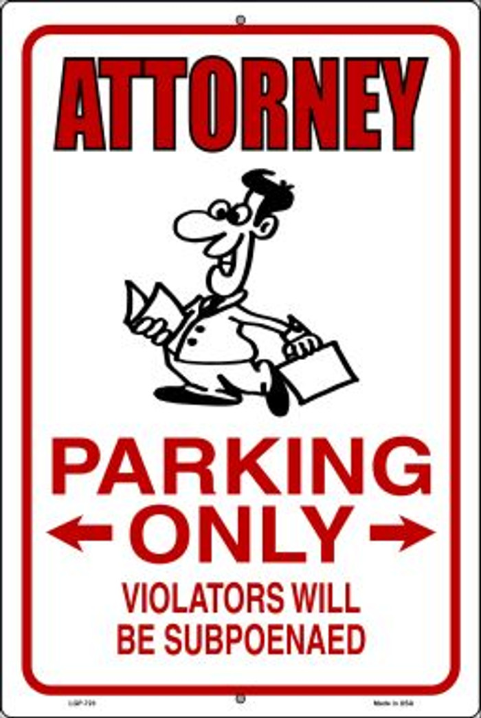 Attorney Parking Novelty Metal Large Parking Sign LGP-723