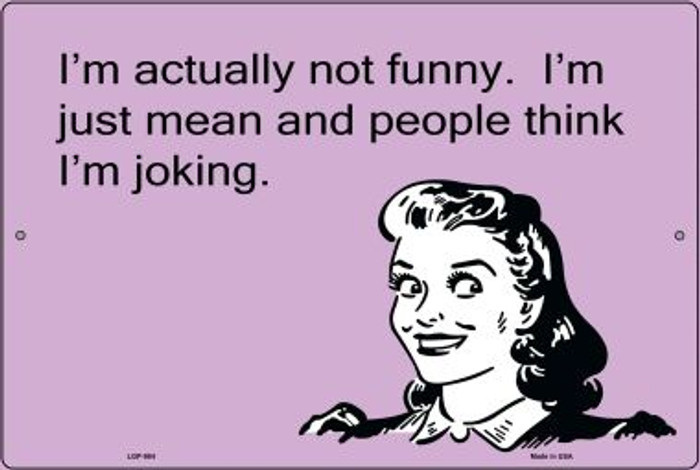 I'm Actually Not Funny E-Cards Novelty Metal Large Parking Sign LGP-984