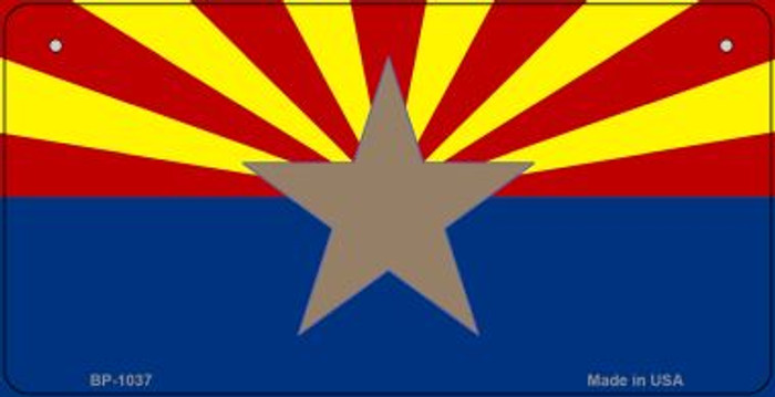 Big Star Arizona Flag Novelty Metal Bicycle Plate BP-1037