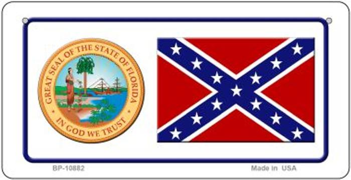 Confederate Florida Novelty Metal Bicycle Plate BP-10882