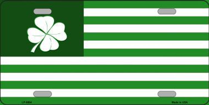 Green Shamrock Flag Metal Novelty License Plate LP-6884