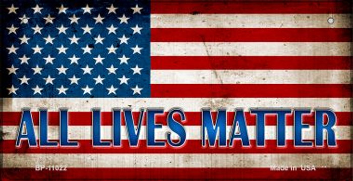 All Lives Matter Novelty Metal Bicycle Plate BP-11022