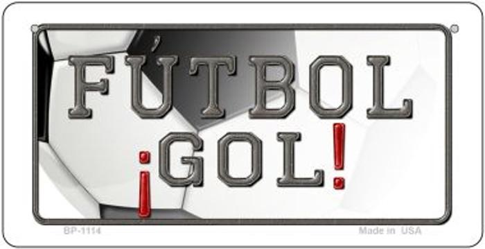 Futbol Gol Novelty Metal Bicycle Plate BP-1114
