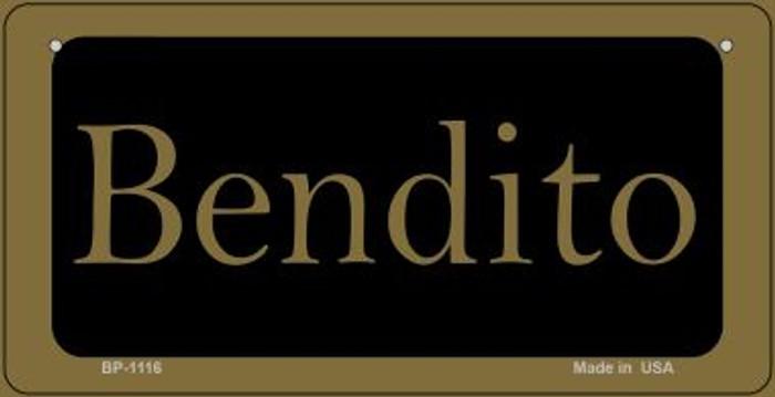 Bendito Novelty Metal Bicycle Plate BP-1116