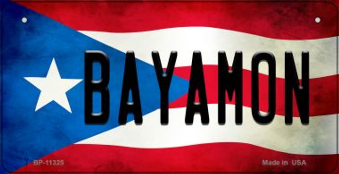Bayamon Puerto Rico State Flag Novelty Metal Bicycle Plate BP-11325