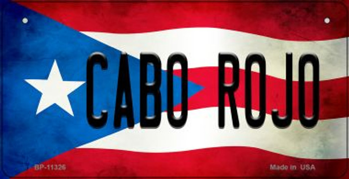 Cabo Rojo Puerto Rico State Flag Novelty Metal Bicycle Plate BP-11326