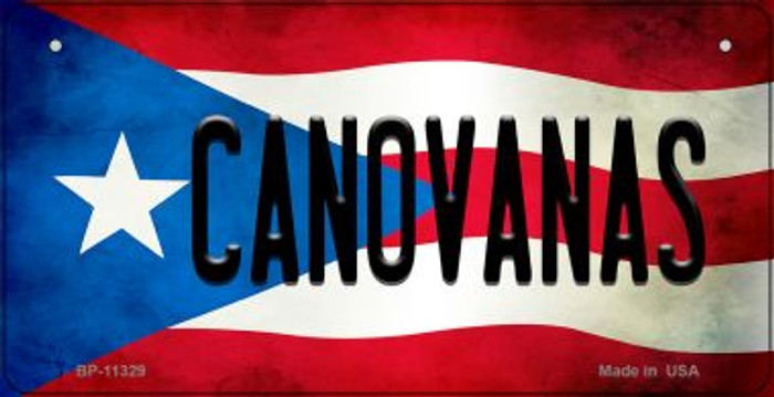 Canovanas Puerto Rico State Flag Novelty Metal Bicycle Plate BP-11329