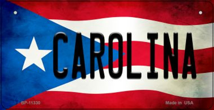 Carolina Puerto Rico State Flag Novelty Metal Bicycle Plate BP-11330