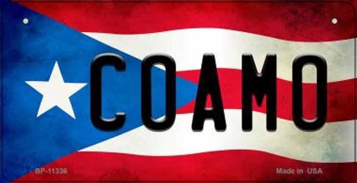 Coamo Puerto Rico State Flag Novelty Metal Bicycle Plate BP-11336