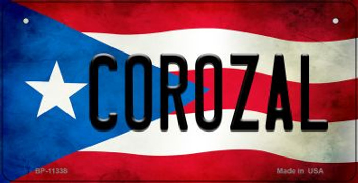 Corozal Puerto Rico State Flag Novelty Metal Bicycle Plate BP-11338