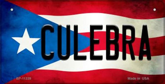 Culebra Puerto Rico State Flag Novelty Metal Bicycle Plate BP-11339