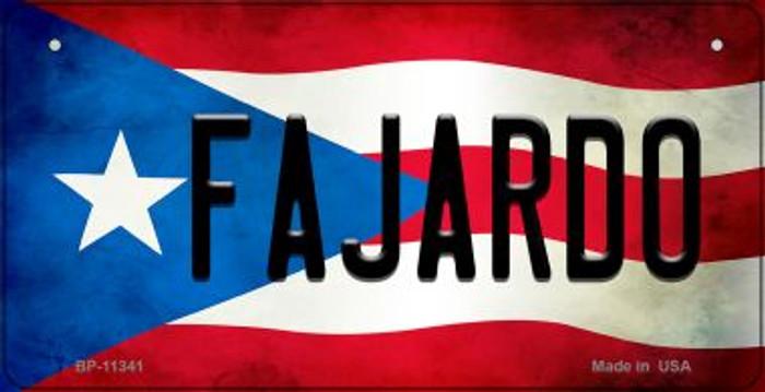 Fajardo Puerto Rico State Flag Novelty Metal Bicycle Plate BP-11341