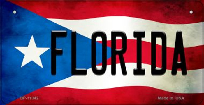 Florida Puerto Rico State Flag Novelty Metal Bicycle Plate BP-11342