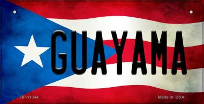Guayama Puerto Rico State Flag Novelty Metal Bicycle Plate BP-11344