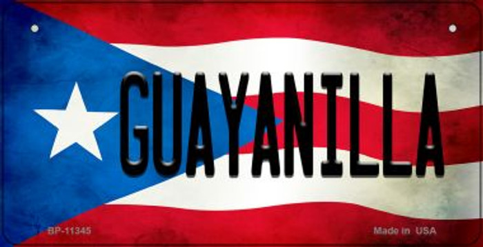 Guayanilla Puerto Rico State Flag Novelty Metal Bicycle Plate BP-11345