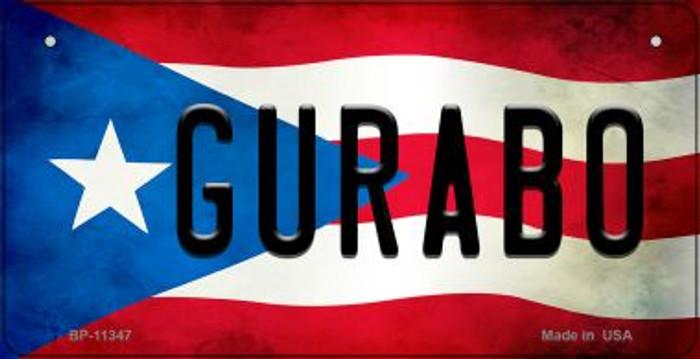 Gurabo Puerto Rico State Flag Novelty Metal Bicycle Plate BP-11347