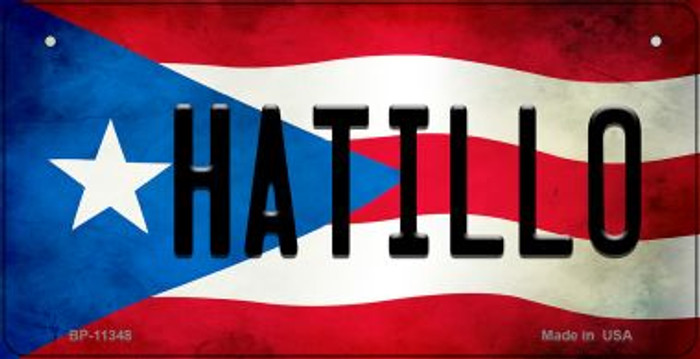 Hatillo Puerto Rico State Flag Novelty Metal Bicycle Plate BP-11348
