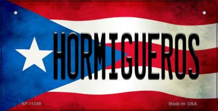 Hormigueros Puerto Rico State Flag Novelty Metal Bicycle Plate BP-11349