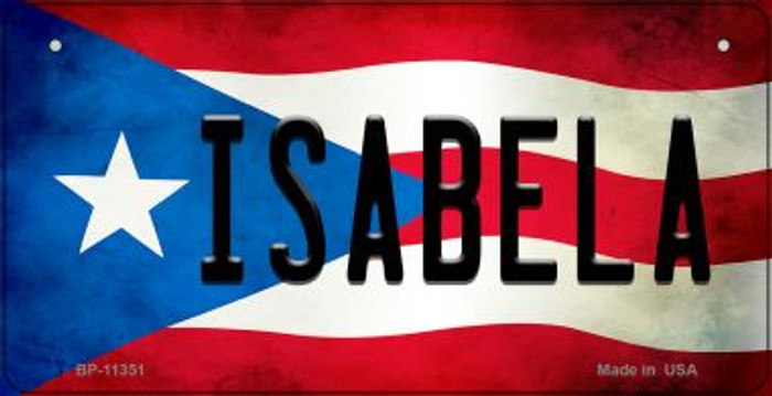 Isabela Puerto Rico State Flag Novelty Metal Bicycle Plate BP-11351
