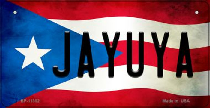 Jayuya Puerto Rico State Flag Novelty Metal Bicycle Plate BP-11352