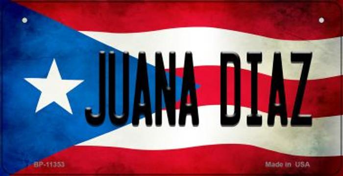 Juana Diaz Puerto Rico State Flag Novelty Metal Bicycle Plate BP-11353