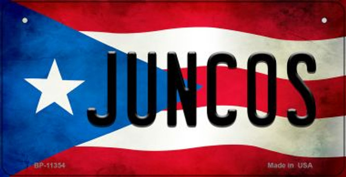 Juncos Puerto Rico State Flag Novelty Metal Bicycle Plate BP-11354