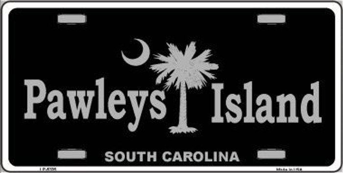 Pawleys Island Black Metal Novelty License Plate LP-5335