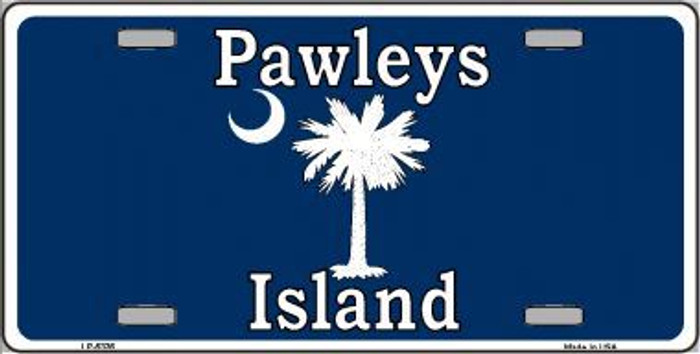 Pawleys Island Blue Metal Novelty License Plate LP-5336